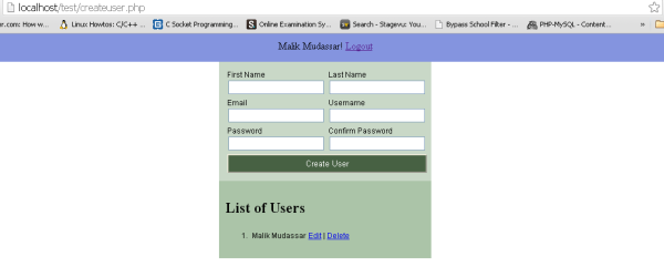 Create PHP login form with mysql